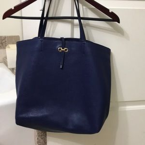 Ferragamo tote Bag Blue Authentic.